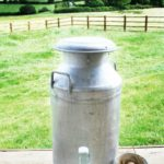 Milk churn at Village Farm Getaway, holidays glamping and luxury camping in East Midlands and Leicestershire