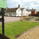 Black Boy pub in Hungarton village in East Midlands and Leicestershire