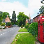 Main St in Hungarton village in East Midlands and Leicestershire