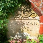 Wesleyan plaque in Hungarton village in East Midlands and Leicestershire