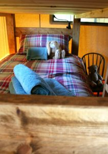 Bunk bed at Village Farm Getaway, holidays glamping and luxury camping in East Midlands and Leicestershire