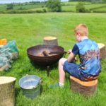 BBQ at Village Farm Getaway, holidays glamping and luxury camping in East Midlands and Leicestershire