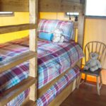 Bunk beds at Village Farm Getaway, holidays glamping and luxury camping in East Midlands and Leicestershire