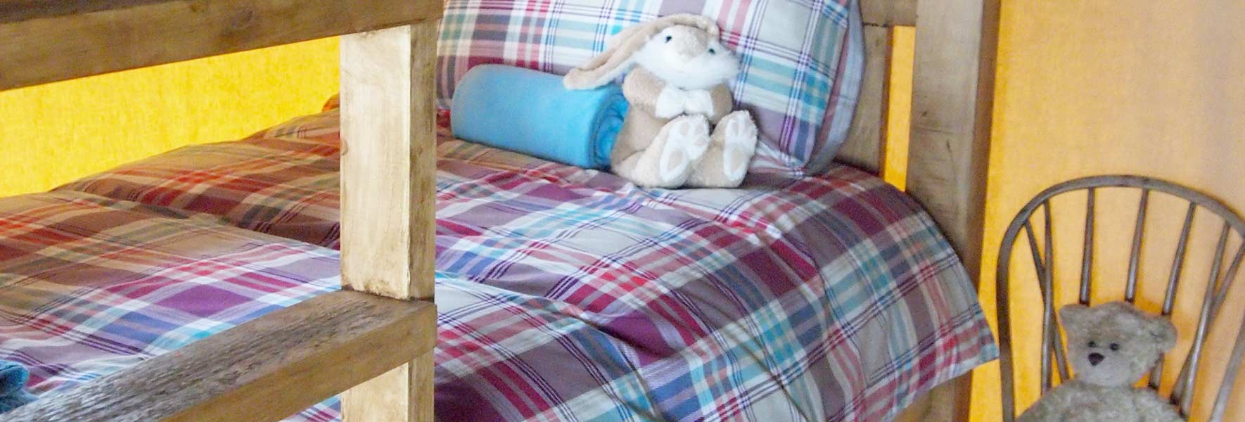 bunk beds at Village Farm Getaway, holidays glamping and luxury camping in East Midlands and Liecestershire