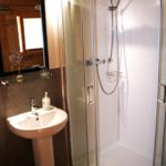 Shower room at Village Farm Getaway, holidays glamping and luxury camping in East Midlands and Leicestershire